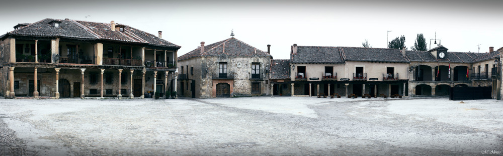 photoblog image Panorama of Pedraza's main square